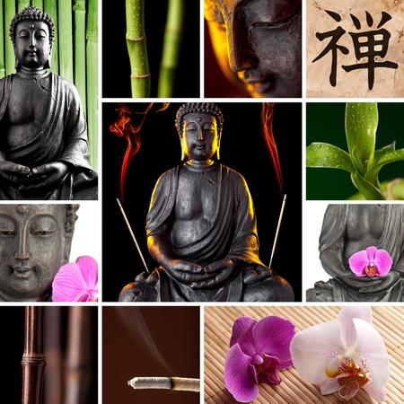 quietude: Buddha Zen Asia Collage
