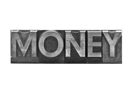 publicly: lead letter word money on white background