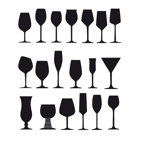 red wine pouring: long drink glass glazier liqueur wine goblet silhouette spirit champagne glass wine glass snifter