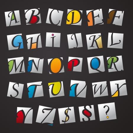 abc Buchstaben des Alphabets Kinder lernen Grundschule logo icon Piktogramm Magazin Set Sammlung Illustration