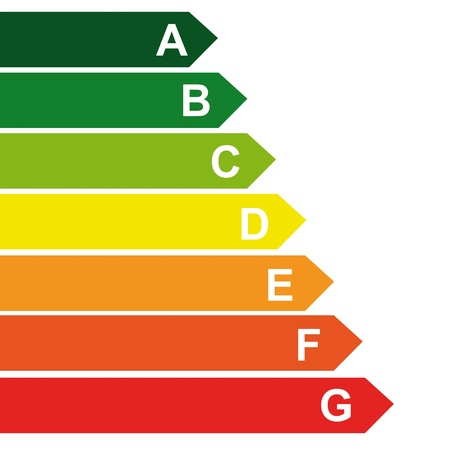 energy class energieberatung bar chart efficiency rating electrical appliances consuming environment Vector