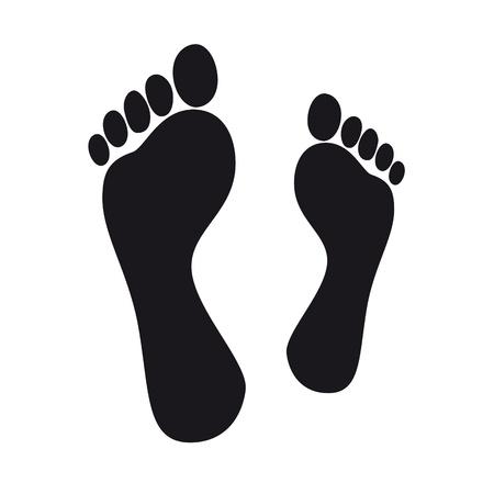 snuffelen: snuiven voet voetafdruk voetafdrukken tracing kleuterschool op blote voeten af te houden