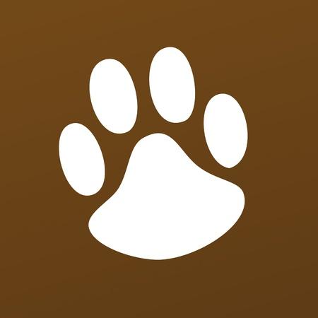 snuffelen: Animal Paw huisdier wolf Paw Paw beer footprint dier poot kat poot vingerafdruk indruk Stock Illustratie
