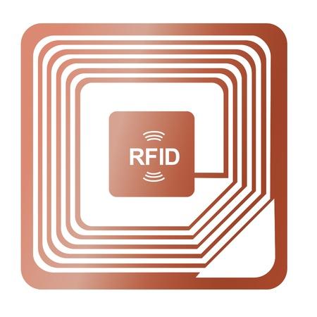 espionaje: chip RFID de radio de concesi�n de etiqueta se robaron cobre etiqueta de identificaci�n enviar datos vectoriales