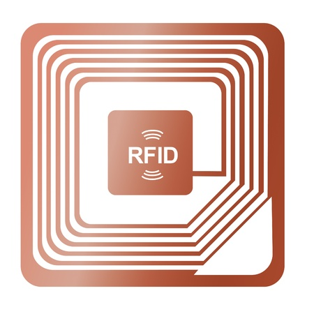 rfid: rfid chip radio-label award were stolen identification label copper send vector data