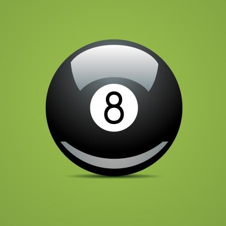 bola de billar: Completa Bola de billar número ocho 8 piscina Sport Juego afición blanca restaurante verde mesa