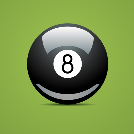 pool game: Full Billiard ball number eight 8 Sport pool Game hobby cue restaurant table green