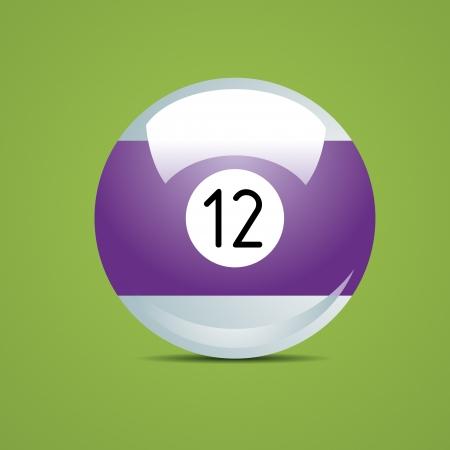 pool game: alf Billiard ball number twelve12 Sport pool Game hobby cue restaurant table green