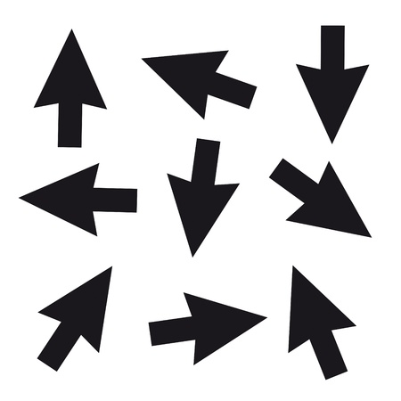 input device: Vector negro del cursor del rat�n conjunto Vectores