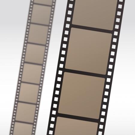35mm movie film reel filmstrip photo roll negative reel movie camera cinematic hollywood Vector