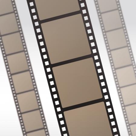 35mm film film reel filmstrip foto roll negatieve rol filmcamera filmische hollywood Vector Illustratie