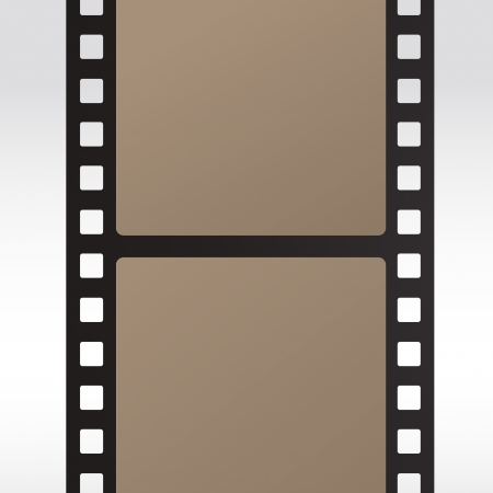 35mm movie film reel filmstrip photo roll negative reel movie camera cinematic hollywood Vector