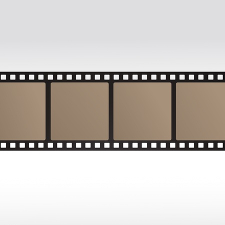 35mm movie film reel filmstrip photo roll negative reel movie camera cinematic hollywood Stock Vector - 14757855