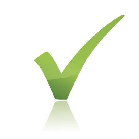 garrapata: Vector Verde X comprobar icono de signo haken Vectores