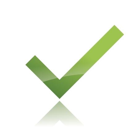 Vector Green  X check haken sign icon Stock Vector - 12410405