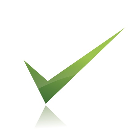 approval button: Vector Green  X check haken sign icon
