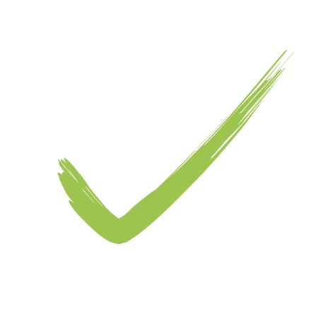 Vector Green  X check haken sign icon  Stock Vector - 12410393