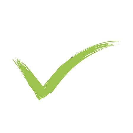 so: Vector Green  X check haken sign icon