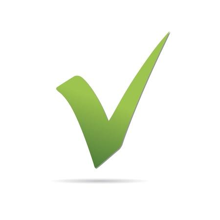 Vector Green  X check haken sign icon  Stock Vector - 12410352
