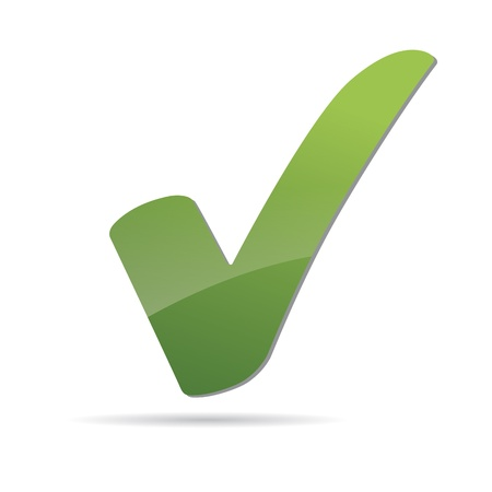 Vector Green  X check haken sign icon Stock Vector - 12410358