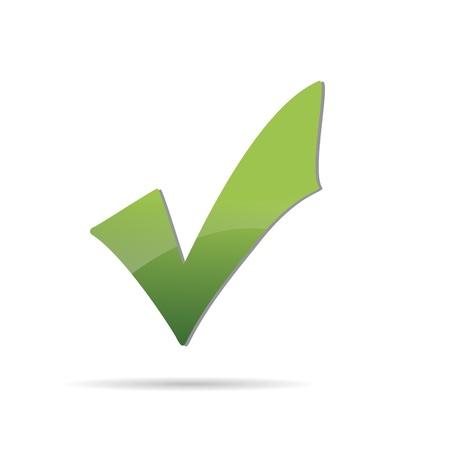Vector Green  X check haken sign icon  Stock Vector - 12410353