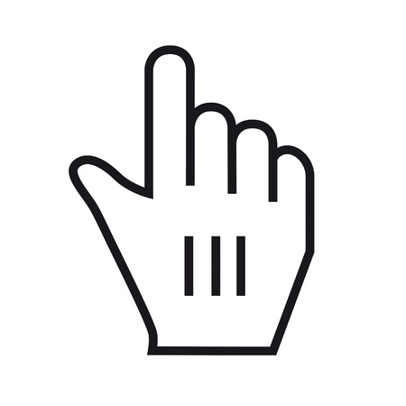 mauszeiger: Black and WhiteVector Mouse cursor hand