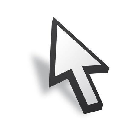 pointers: White 3D Vector Mouse cursor
