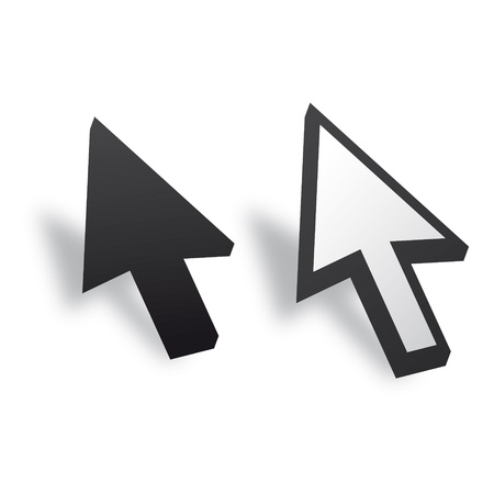 mauszeiger: White and Black 3D Vector Mouse cursor