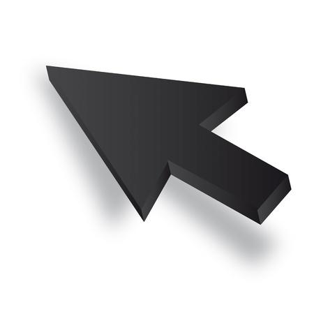 input device: Negro Vector 3D del cursor del rat�n
