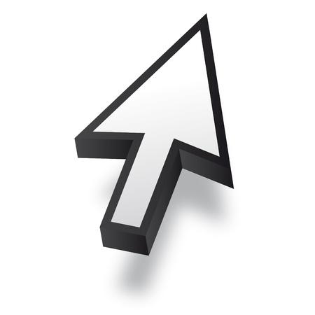 mauszeiger: White 3D Vector Mouse cursor