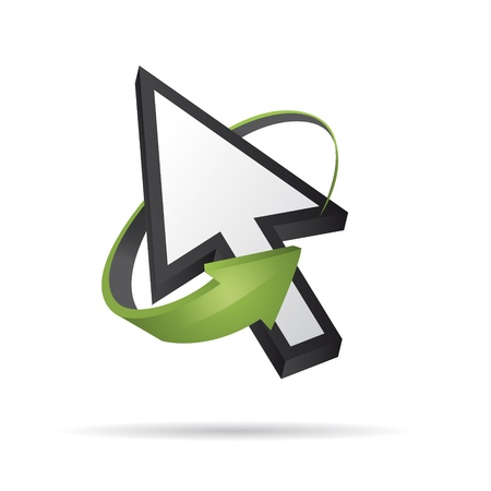 input device: Vector 3D del cursor del rat�n con la flecha