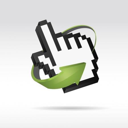 input device: 3D Rat�n Vector cursor de la mano con la flecha