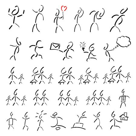 underlined figures set collage Stock Vector - 12508196