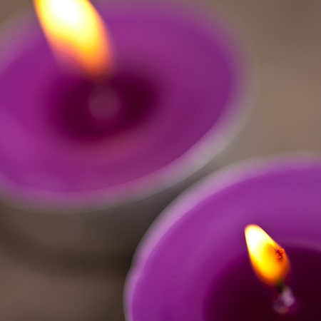 two candel with flamme  Stock Photo - 12508213