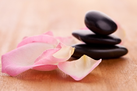black stones tower with leaves Stock Photo - 12508212