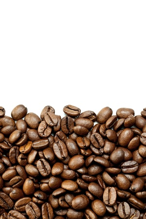 stimulant: Brown Coffee Beans on white background