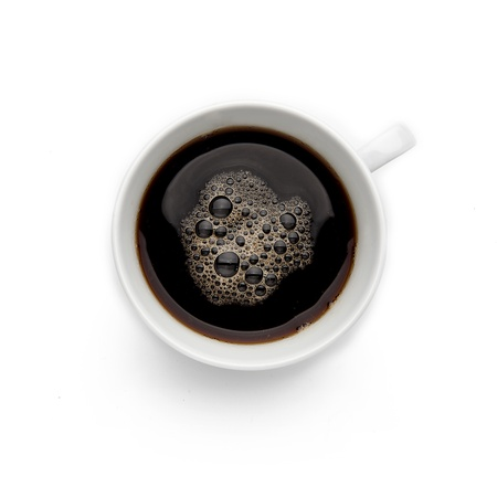 stimulant: Coffee Cup on White Background Stock Photo