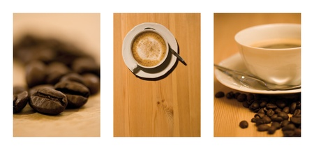 enjoyable: Brown Coffee Cup Beans collage
