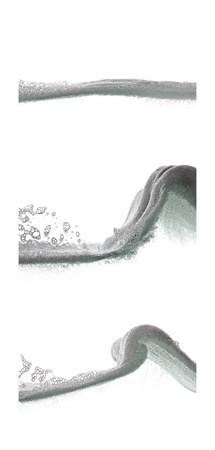 foaming: foaming waves collage Stock Photo