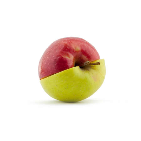 Red and Green apple on white background Stock Photo - 12509171