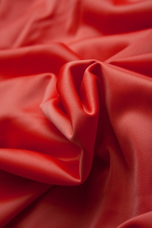 Red silk cloth with fold litter Stock Photo - 12541956