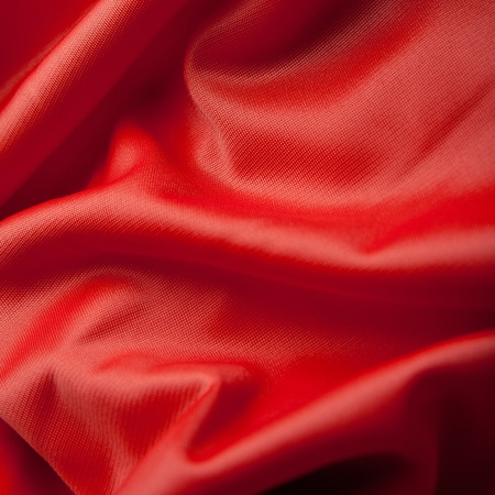 Red silk cloth with fold litter photo