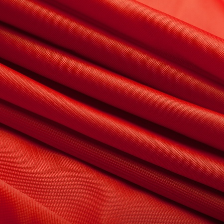 breathable: Red silk cloth with fold litter