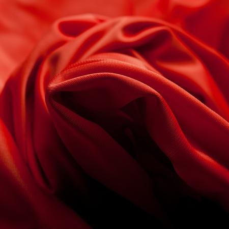 silk cloth: Panno di seta rosso con lettiera volte Archivio Fotografico
