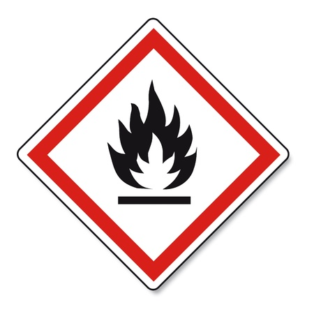 oxidising: GHS warning danger sign Vektor