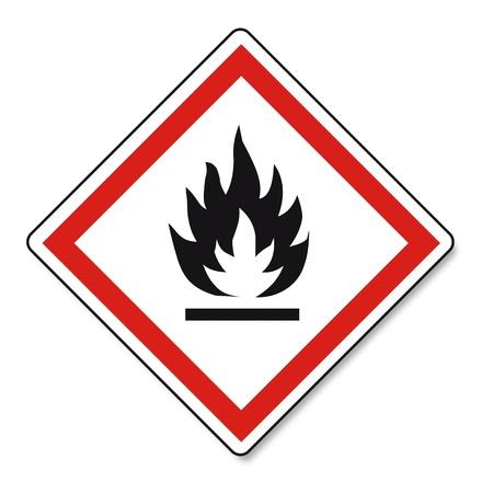 sustancias toxicas: SGA advirtiendo del peligro de signo Vektor