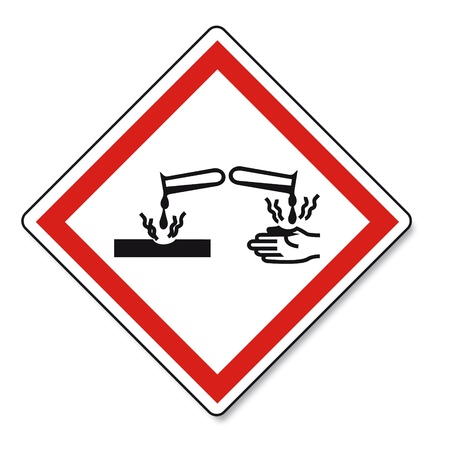 oxidising: SGA advirtiendo del peligro de signo Vektor