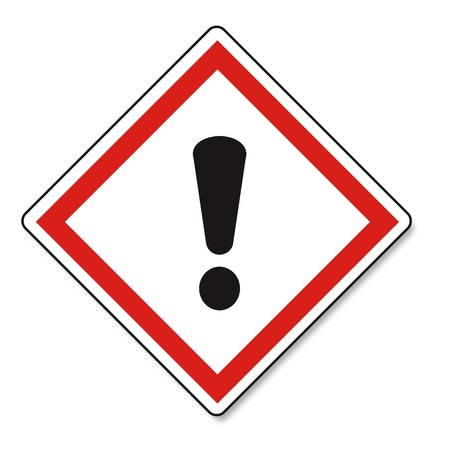 hazardous substances: GHS warning danger sign Vektor