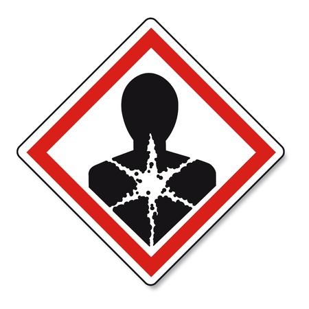 GHS waarschuwing gevaar teken Vektor Vector Illustratie