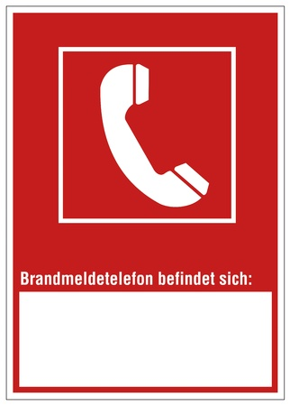 respectfully: Fire safety sign Phone warning sign